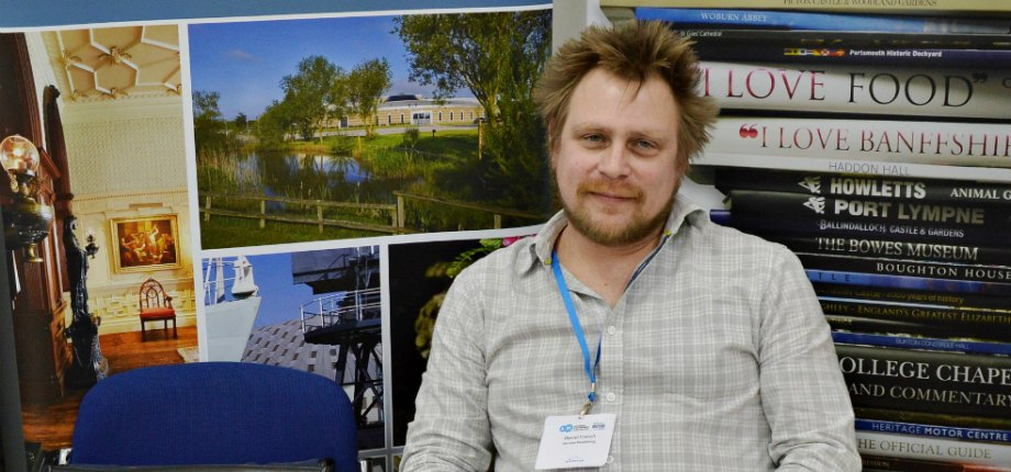 Daniel from Jarrold Publishing at our conference exhibition