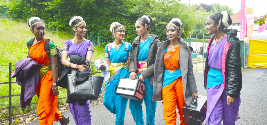 Image: Young dancers at Glasgow mela courtesy of the British Council
