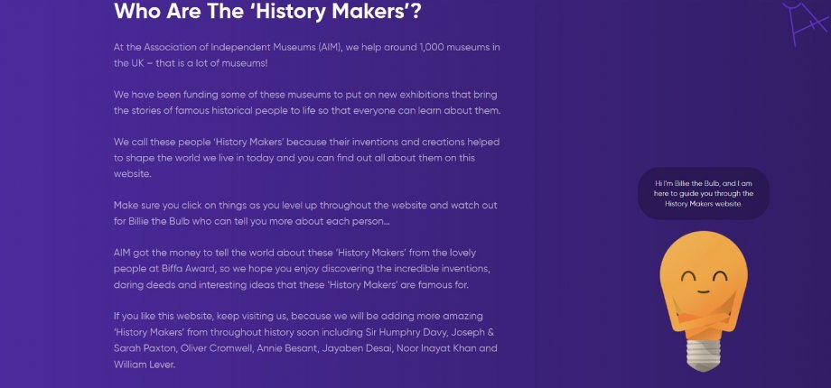New History Makers Website Launches