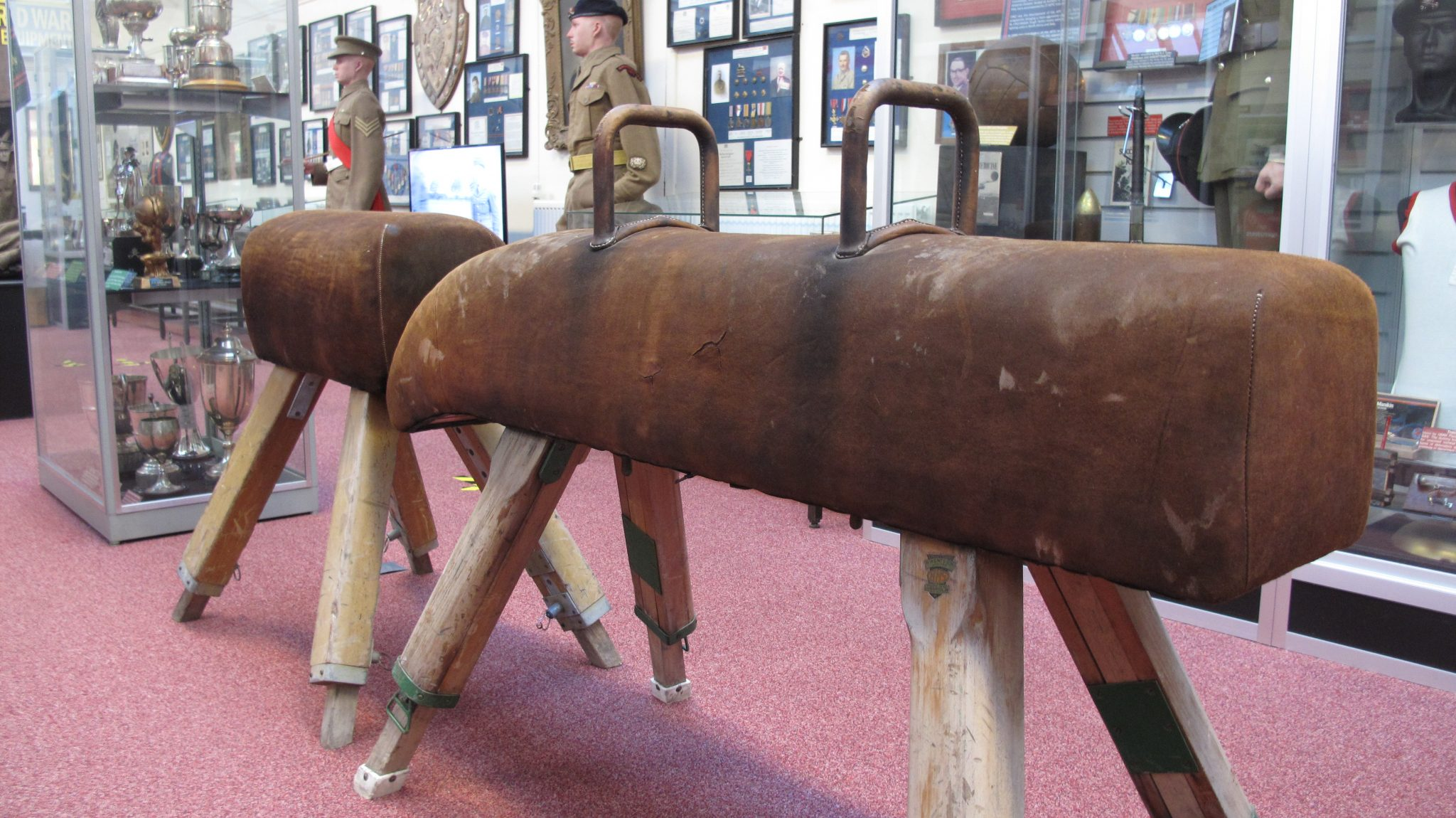 The pommel horse and vaulting buck on display at RAPTC