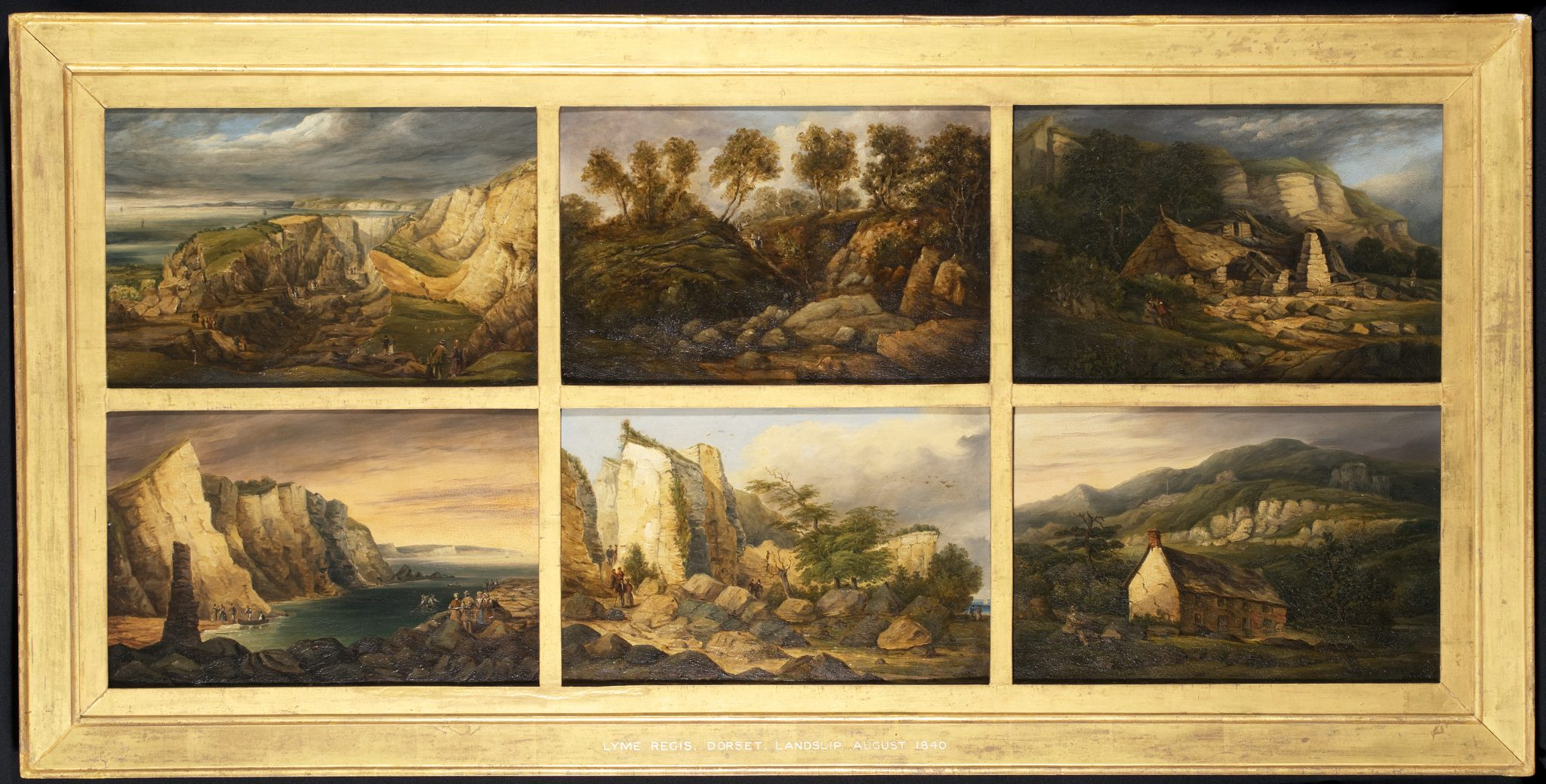 The Bindon Landslip Heptaptych Panel of August 1840 after conservation